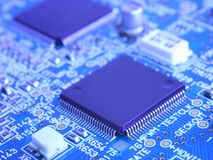 Computer circuit motherboard Stock Image