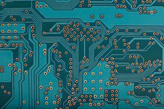 Computer circuit motherboard technology background. Stock Image
