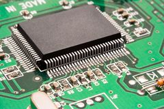 Computer Circuit – Processor Macro Royalty Free Stock Photo