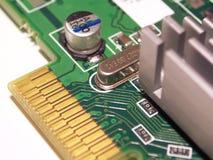 Computer Circuitry. Macro shot of computer circuit board royalty free stock photo