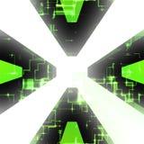 Computer Circuitry Vortex Royalty Free Stock Image