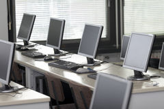 Computer classroom 2 Stock Images