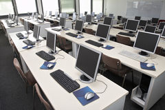 Computer classroom 4 Royalty Free Stock Photography