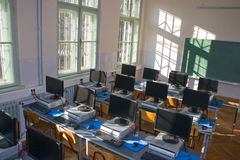 Computer classroom. At faculty of science Stock Image