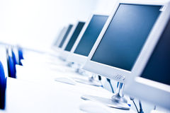 Computer classroom Stock Images