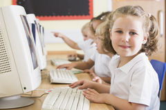 Computer classroom Royalty Free Stock Image