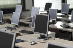 Computer classroom 6 Stock Photos