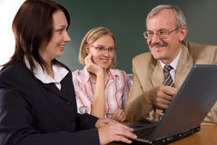In computer classroom Royalty Free Stock Photography