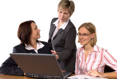 In computer classroom Stock Images