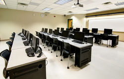 Computer classroom Stock Photography