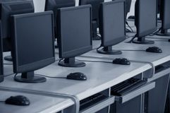 Computer classroom Royalty Free Stock Photos
