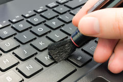 Computer cleaning Stock Images