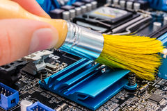 Computer cleaning Stock Photo