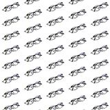 Computer clear sunglasses pattern on white isolated background. Minimal it concept. Isometric print.  royalty free stock photos