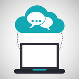 Computer cloud bubble speak connection network Stock Photo