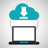 Computer cloud download connection network Royalty Free Stock Photography