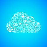 Computer cloud icon Stock Photos