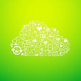 Computer cloud icon Royalty Free Stock Photos