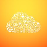 Computer cloud icon Stock Photography