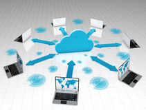 Computer cloud network Royalty Free Stock Images