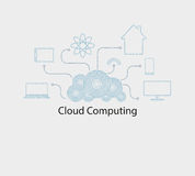 Computer cloud numbers Royalty Free Stock Image