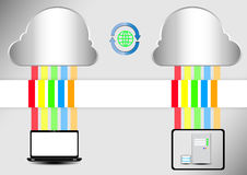 Computer cloud server Royalty Free Stock Photography