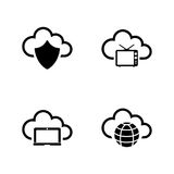 Computer cloud. Simple Related Vector Icons Royalty Free Stock Photography