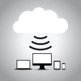 Computer cloud Stock Image