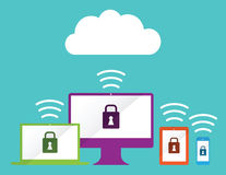 Computer cloud Royalty Free Stock Images