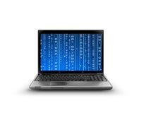 Computer code. Binary code running , software bug Royalty Free Stock Photography