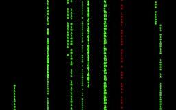 Computer code falling matrix style. stock footage