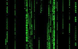 Computer code falling matrix style. stock video footage