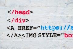 Computer code graffiti Stock Image