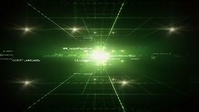Computer Code Green stock footage