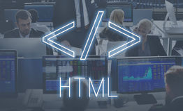 Computer Code HTML Symbol Graphic Concept Stock Image