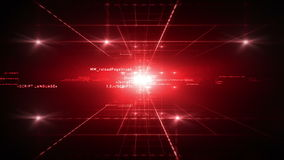 Computer Code Red stock footage