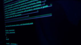 Computer code on the screen. Background of computer code on the screen stock footage