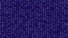 Computer data error. Computer code scroll suddenly start to error and glitch vector illustration