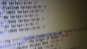 Computer Code Scrolling stock video footage
