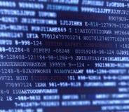 Computer-Code-Skript-Hintergrund Lizenzfreies Stockbild