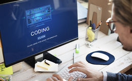 Computer Coding Code Advanced Technology Concept Stock Images