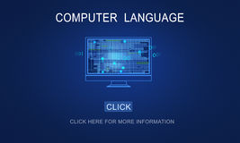 Computer Coding Code Advanced Technology Concept Royalty Free Stock Image