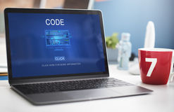 Computer Coding Code Advanced Technology Concept Royalty Free Stock Photography