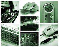 Computer collage. Photo collage with IT related images Royalty Free Stock Image