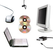 Computer collage. Collage of some computer devices Royalty Free Stock Photos