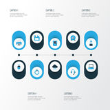 Computer Colorful Icons Set.  Royalty Free Stock Photos