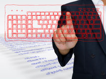 Computer command royalty free stock images