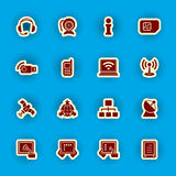 Computer and communication icon set vector illustration