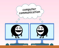 Computer communication Stock Images