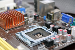 Computer component. Electronic part Stock Photography